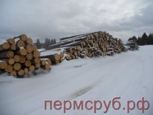 Лес, заготовленный зимой 2014 г.